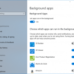 Stop Apps from running in the background on Windows 10